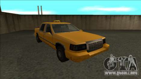Stretch Sedan Taxi para GTA San Andreas vista hacia atrás