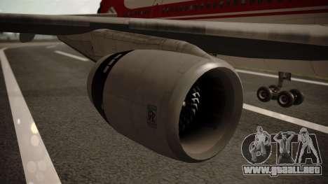 Lockheed L-1011 Air Lanka para la visión correcta GTA San Andreas