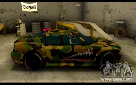 Bravado Buffalo Camo Shark Mouth para GTA San Andreas left