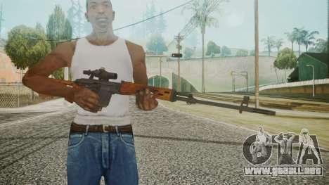 SVD Battlefield 3 para GTA San Andreas tercera pantalla