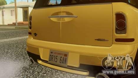 Mini Cooper Clubman 2011 K-ON Ritsu Itasha para GTA San Andreas vista hacia atrás