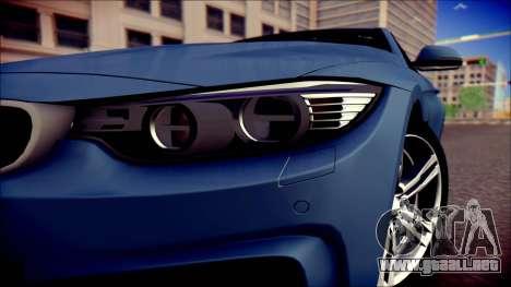 BMW 4 Series Coupe M Sport para la visión correcta GTA San Andreas
