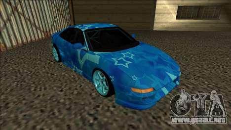 Toyota MR2 Drift Blue Star para GTA San Andreas left