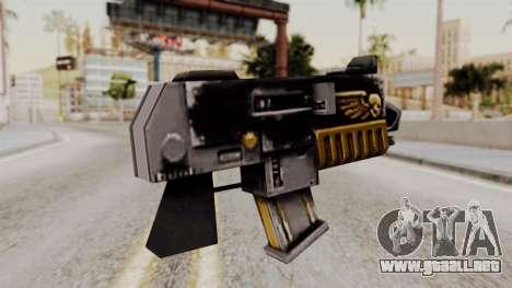 Un bólter de Warhammer 40k para GTA San Andreas segunda pantalla