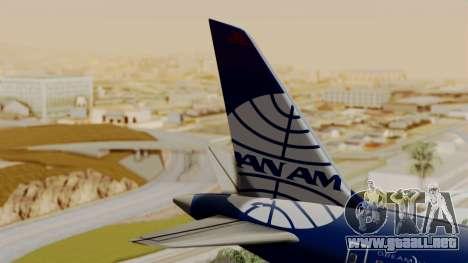 Boeing 787-9 Pan AM para GTA San Andreas vista posterior izquierda