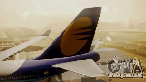 Boeing 747-400 Jat Airways para GTA San Andreas vista posterior izquierda