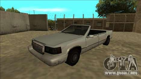 Stretch Sedan Cabrio para GTA San Andreas vista posterior izquierda