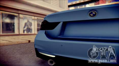 BMW 4 Series Coupe M Sport para GTA San Andreas vista hacia atrás