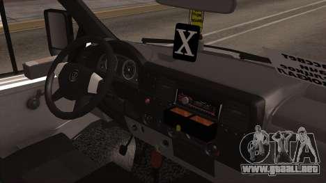 GAZelle 2705 para GTA San Andreas vista posterior izquierda