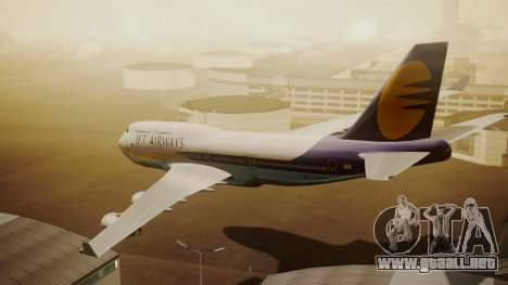 Boeing 747-400 Jat Airways para GTA San Andreas left