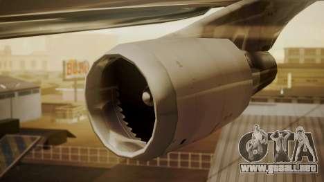 Boeing 747-400 Jat Airways para la visión correcta GTA San Andreas