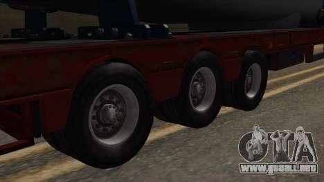 Overweight Trailer Stock para GTA San Andreas vista posterior izquierda