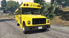 Clásico autobús de la escuela