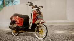 Honda Scoopy New Red para GTA San Andreas