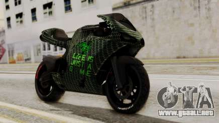 Bati Motorcycle Razer Gaming Edition para GTA San Andreas
