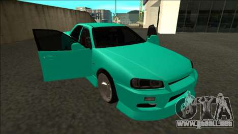 Nissan Skyline ER34 Drift para vista inferior GTA San Andreas
