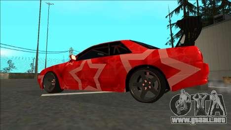 Nissan Skyline R32 Drift Red Star para GTA San Andreas left