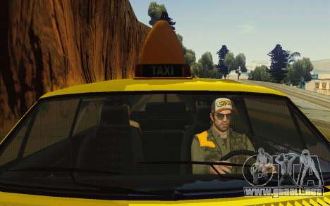 Albany Lurcher Taxi para vista lateral GTA San Andreas
