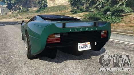 GTA 5 Jaguar XJ220 v0.8 vista lateral izquierda trasera