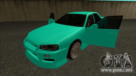 Nissan Skyline ER34 Drift para vista lateral GTA San Andreas