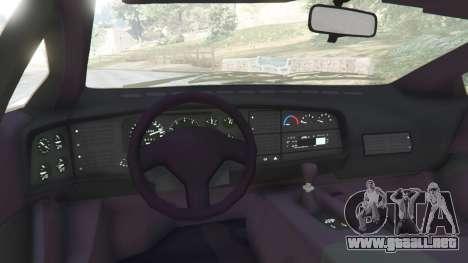 GTA 5 Jaguar XJ220 v0.8 vista lateral trasera derecha