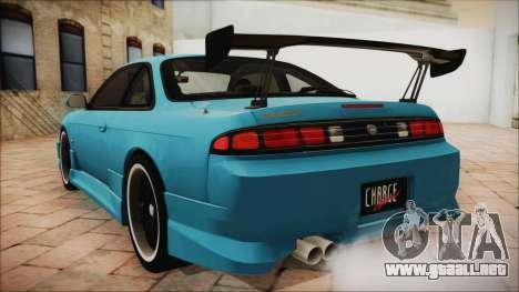 Nissan Silvia S14 Chargespeed Kantai Collection para GTA San Andreas left