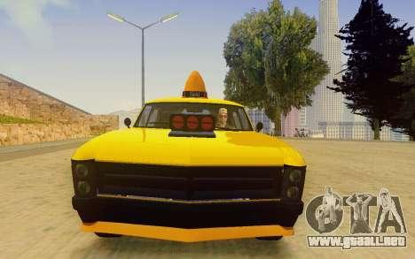 Albany Lurcher Taxi para GTA San Andreas vista hacia atrás