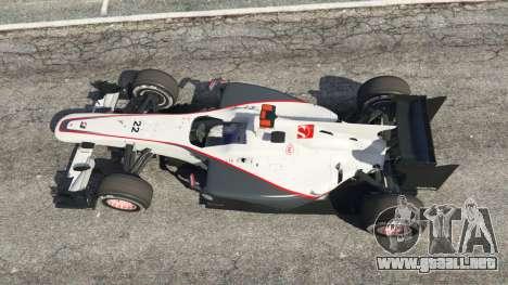 GTA 5 Sauber C29 [Pedro martínez de La Rosa] vista trasera