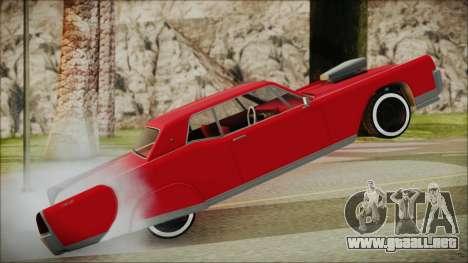 GTA 5 Vapid Chino Bobble Version IVF para GTA San Andreas vista posterior izquierda