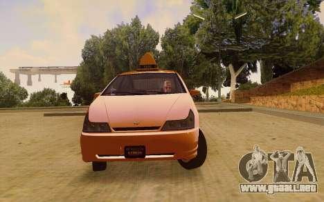Karin Dilettante Taxi para la visión correcta GTA San Andreas