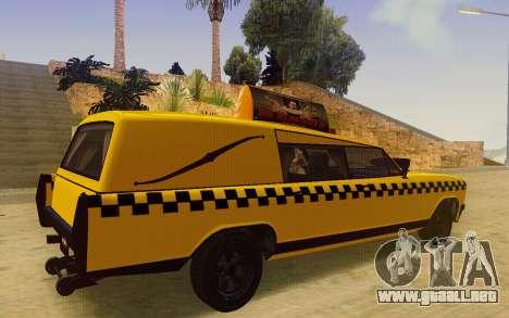 Albany Lurcher Taxi para GTA San Andreas vista posterior izquierda