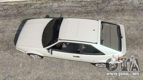 GTA 5 Volkswagen Corrado VR6 vista trasera
