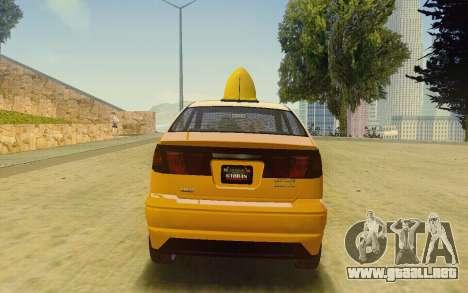 Karin Dilettante Taxi para GTA San Andreas left