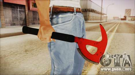 Plane Axe from The Forest para GTA San Andreas tercera pantalla