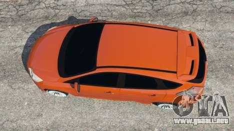 GTA 5 Ford Focus ST (C346) 2013 vista trasera