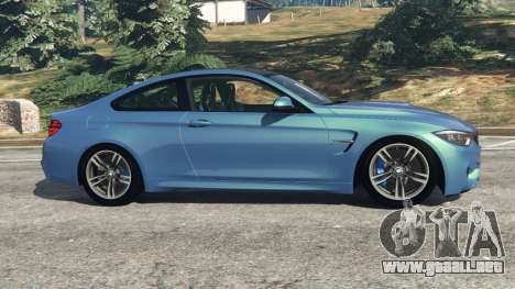 GTA 5 BMW M4 2015 vista lateral izquierda