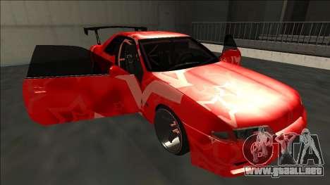 Nissan Skyline R32 Drift Red Star para vista inferior GTA San Andreas