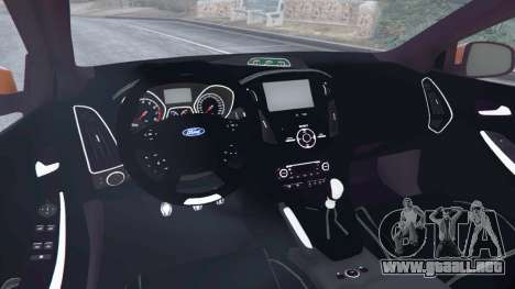 GTA 5 Ford Focus ST (C346) 2013 vista lateral trasera derecha