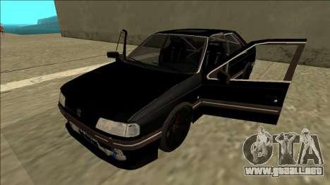 Peugeot 405 Drift para GTA San Andreas vista hacia atrás