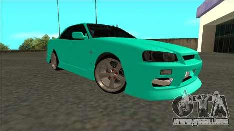 Nissan Skyline ER34 Drift para la visión correcta GTA San Andreas
