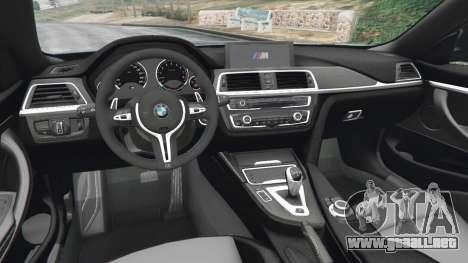 GTA 5 BMW M4 2015 vista lateral trasera derecha