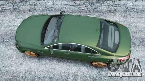 GTA 5 Mercedes-Benz CLS 63 AMG v1.0 vista trasera