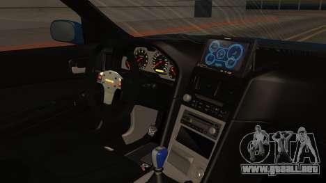 Nissan Skyline R34 FnF 4 para la visión correcta GTA San Andreas