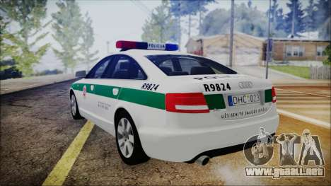 Audi A6 C6 Lithuanian Police para GTA San Andreas left