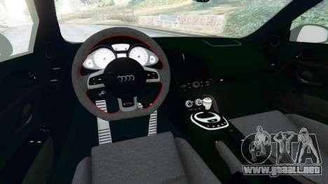 GTA 5 Audi R8 [LibertyWalk] vista lateral trasera derecha