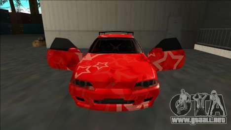 Nissan Skyline R32 Drift Red Star para la vista superior GTA San Andreas