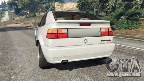 GTA 5 Volkswagen Corrado VR6 vista lateral izquierda trasera