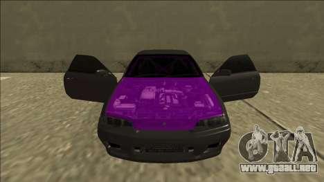 Nissan Skyline R32 Drift para la vista superior GTA San Andreas