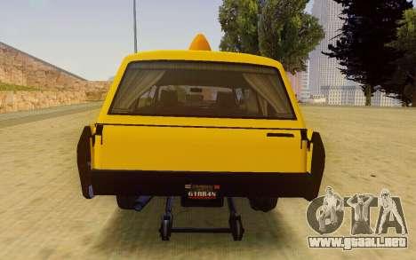 Albany Lurcher Taxi para la visión correcta GTA San Andreas