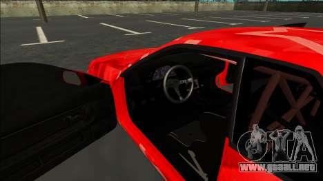 Nissan Skyline R32 Drift Red Star para visión interna GTA San Andreas